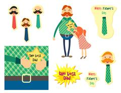 Happy Fathers Day concept - stock illustration