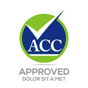 Logo Approved Icon Acc Concept - stock illustration
