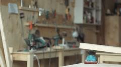 Carpentry work - stock footage