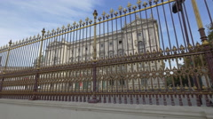 The beautiful decorated fence of Neue Burg in Vienna Stock Footage
