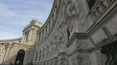 Low angle view of the Neue Burg in Vienna Stock Footage