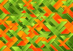 Bright green orange tech corporate background - stock illustration