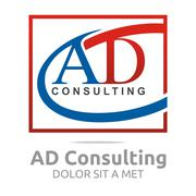 Logo Letter AD Consulting Icon Business - stock illustration