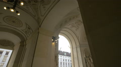 Stock Video Footage of Beautiful decorated passage in Hofburg Palace, Vienna
