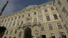 Stock Video Footage of Statues near a passageway at the Hofburg Palace, Vienna