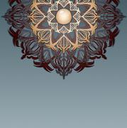 Retro background with ornament, Stock Illustration