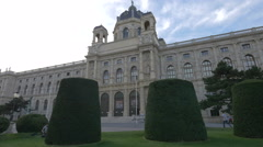View of the Natural History Museum in Maria-Theresien-Platz, Vienna Stock Footage