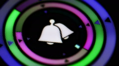 Bell icon. Looping. - stock footage