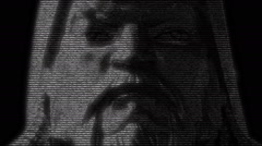 Genghis Khan Mongolian Emperor Face Stock Footage