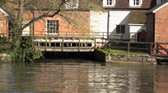 Historic mill river intake Flatford England 4K Stock Footage