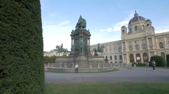 Maria Theresa Monument and the Art History Museum in Vienna Stock Footage