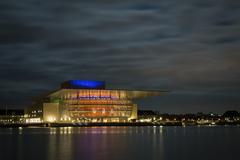 Copenhagen Opera House by night - stock photo