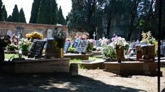 S. Michele, the cemetery of Venezia Stock Footage