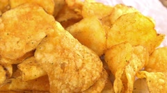 Rotating Potato Chips (not loopable) - stock footage