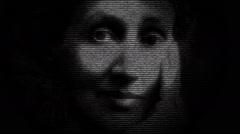 Virginia Woolf Writer Portrait Animation Stock Footage