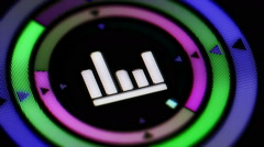 Equalizer icon. Looping. Stock Footage
