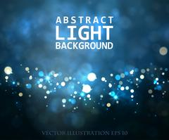 Festive light background with bokeh and stars Stock Illustration
