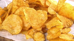 Rotating Potato Chips (not loopable) Stock Footage
