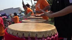 Traditional Music from isaan thailand   kalasin province Stock Footage