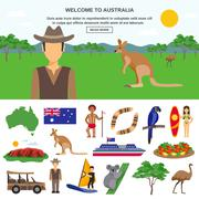 Australia Travel Concept - stock illustration