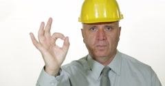 Confident Man Building Industry Financier Ok Sign Well Done Business Investment Stock Footage