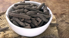 Long Pepper (seamless loopable) Stock Footage