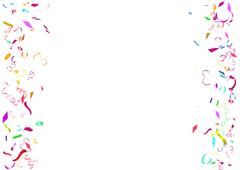 Abstract colorful confetti background. Isolated on the white background. - stock illustration