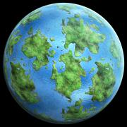 green Planetgreen planet similar to earth - stock illustration