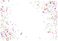Abstract colorful confetti background. Isolated on the white background. Piirros