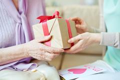 Packed gift - stock photo