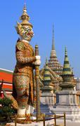 Demon in Wat Phra Kaew in Bangkok Stock Photos