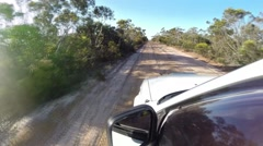 POV 4x4 driving on corrugated offroad track - stock footage