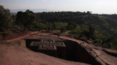 Church of St. George, Lalibela, Ethiopia Stock Footage