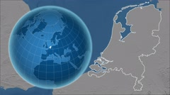 Netherlands and Globe. Set of five animations plus matte Stock Footage