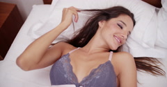 Brazilian babe with big boobs is smiling at camera Stock Footage