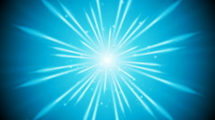 Blue shiny glowing beams video animation Stock Footage