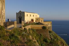 Santa Margherita Nuova on the Terra Murata Procida Phlegrean Islands Gulf of - stock photo