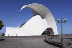 Auditorium by Santiago Calatrava congress and concert hall Santa Cruz Island Stock Photos