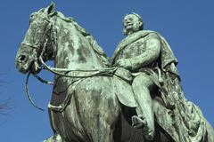 Monument of Emperor William I Egedienplatz Nuremberg Franconia Bavaria Germany - stock photo