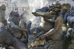 Ehekarussell or Hans Sachs fountain Nuremberg Middle Franconia Bavaria Germany - stock photo