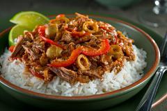 Cuban Cuisine, Ropa Vieja - stock photo