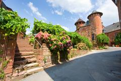 Collonges la Rouge Stock Photos