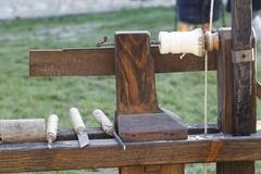 Historic Wood Turning Machine Stock Photos