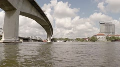 Underside of Bridges from a Passenger Boat. Video FullHD Stock Footage