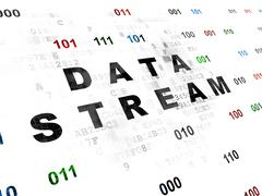 Information concept: Data Stream on Digital background - stock illustration
