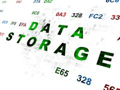 Data concept: Data Storage on Digital background - stock illustration