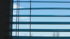 Window with blinds morning Stock Footage