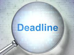 Stock Illustration of Finance concept: Deadline with optical glass