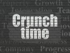 Finance concept: Crunch Time on wall background - stock illustration