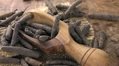 Portion of long Pepper (seamless loopable; 4K) Stock Footage